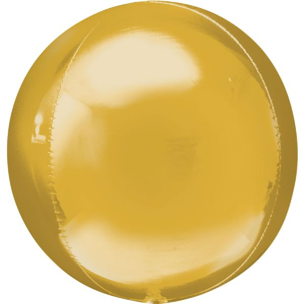 Gold Round Orbz 15in Balloon